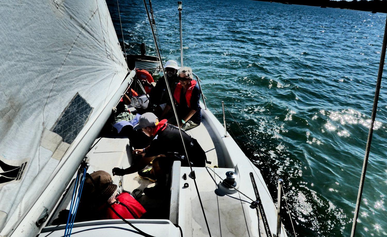 Inaugural sailing lesson